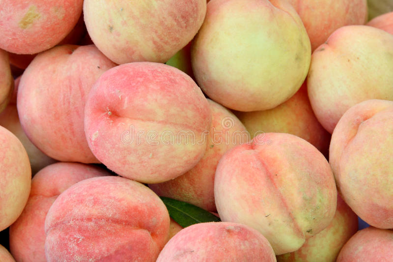 Color And Texture Of Fresh Peaches Royalty Free Stock Photography