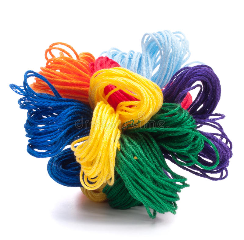 Download Color Threads Bunch Stock Photography - Image: 25319332