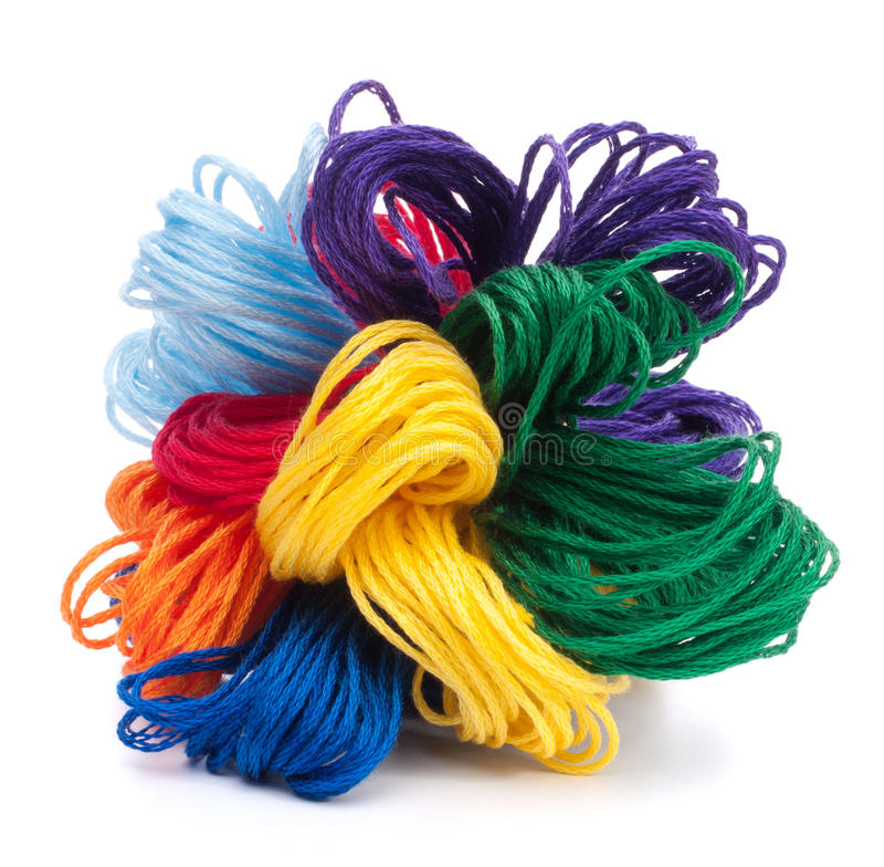 Color threads bunch stock images