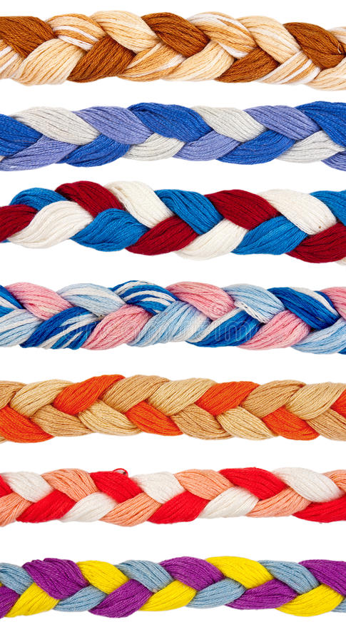 Free Color Threads In A Form Of Braid Royalty Free Stock Photography - 23567137