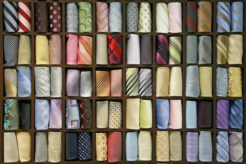Color ties stock images