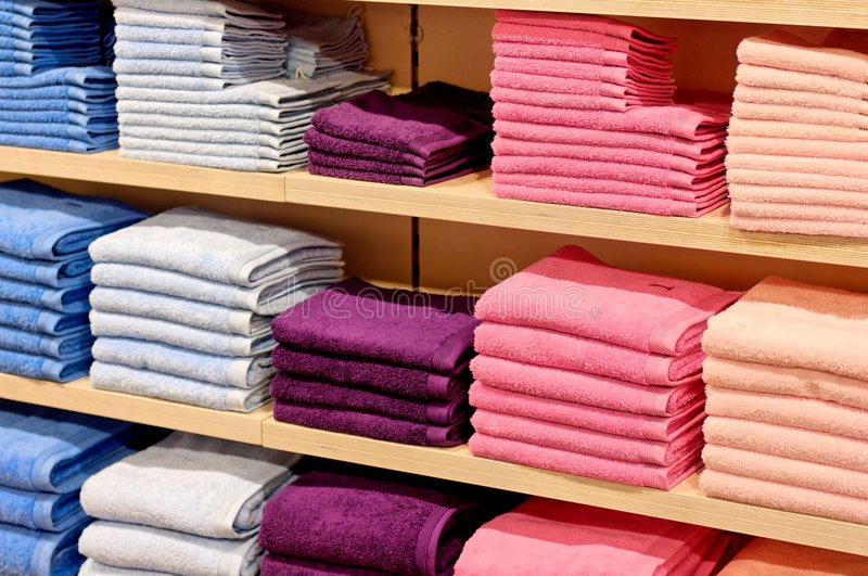 Color towel stock stock images