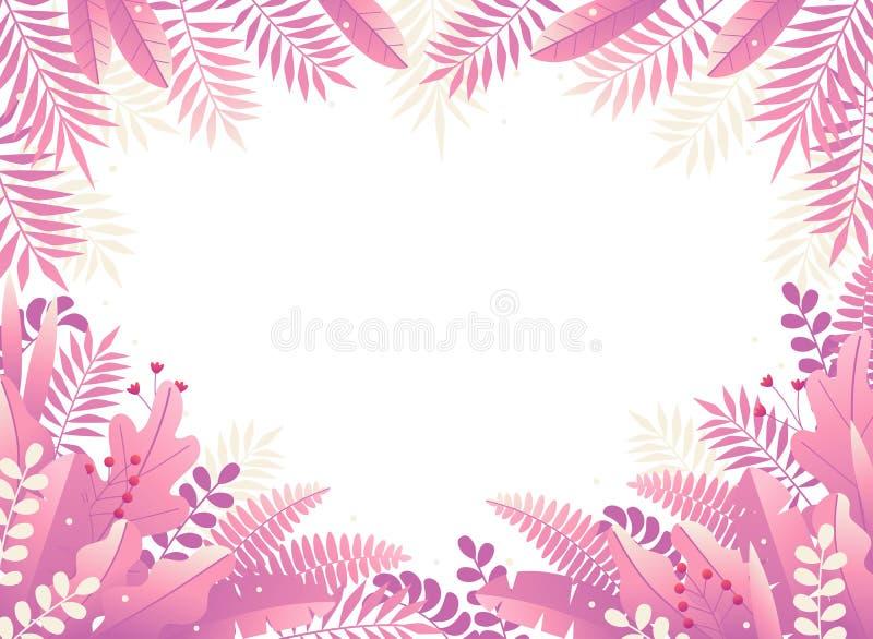 Color trasero abstracto floral stock de ilustración