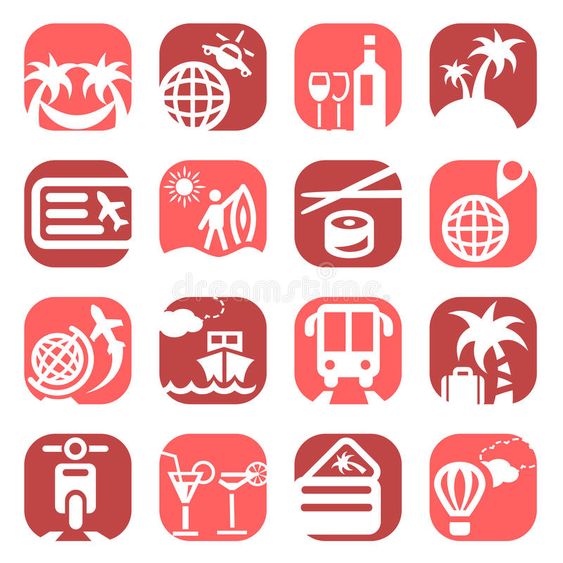 Download Colorfull travel icons stock vector. Image of icon, globe - 31047443