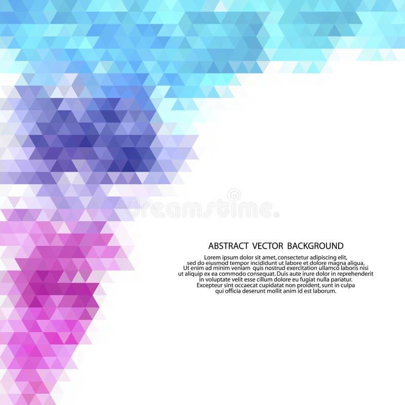 Color triangles. polygonal style. presentation template. eps 10. Color triangles. polygonal style presentation template, polyhedrons, science, medicine royalty free illustration