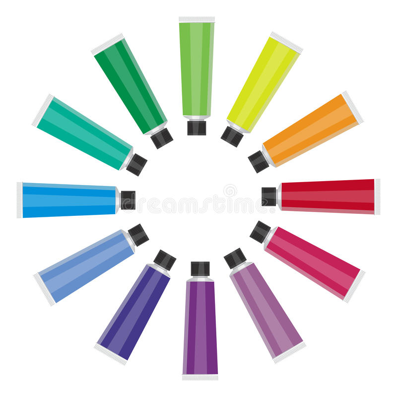 Color Tubes stock illustration