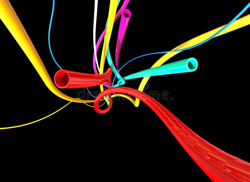 Color tubes vector illustration