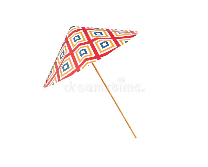 Color umbrella isolated on white background 3d render vector illustration