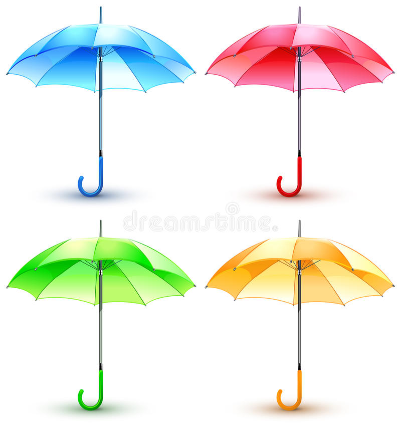 Free Color Umbrellas Royalty Free Stock Photography - 15434707