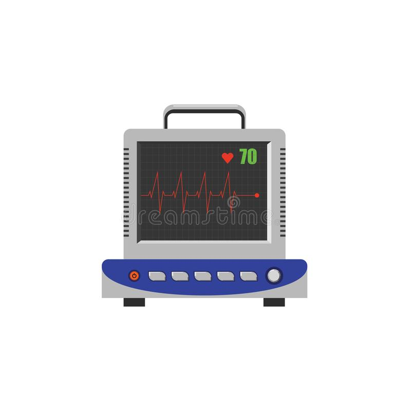 Vector image. ECG, electrocardiogram monitor. Color vector image. ECG, electrocardiogram monitor vector illustration