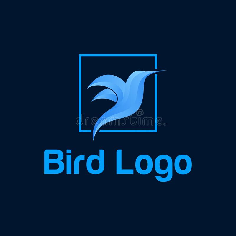 Color vector logo of a flying bird. Flying bird color vector logo with a color scheme that looks modern and elegant vector illustration