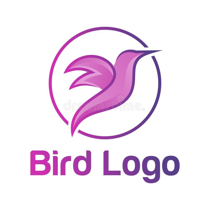 Color vector logo of a flying bird. Flying bird color vector logo with a color scheme that looks modern and elegant stock illustration