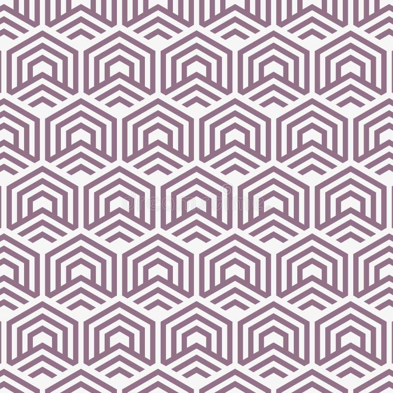 color vektorn för möjliga variants för modellen den olika upprepa sexhörningsraster Abstrakt begrepp avriven geometrisk bakgrund  royaltyfri illustrationer