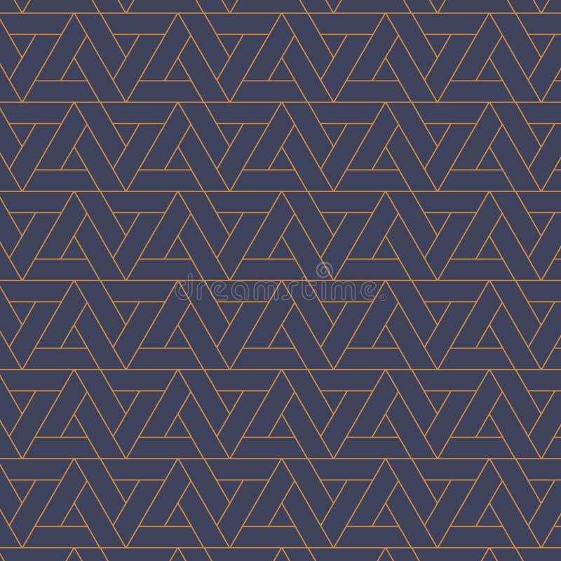 color vektorn för möjliga variants för modellen den olika abstrakt bakgrund Upprepa geometriskt triangulärt raster på sexhörnings vektor illustrationer