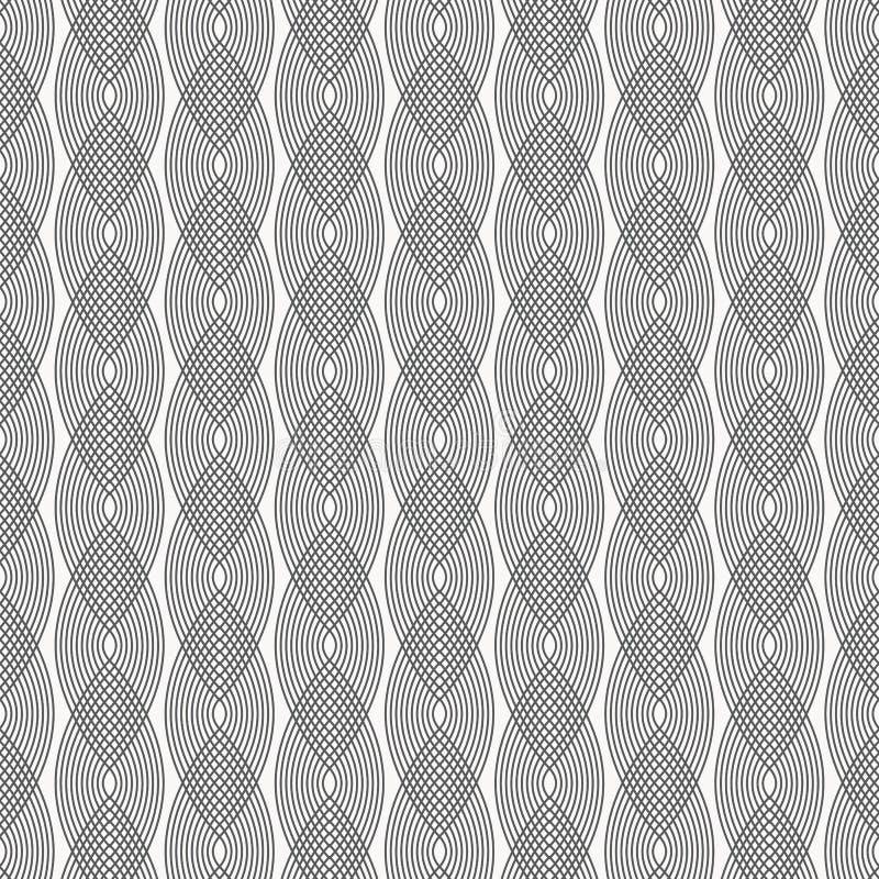 color vektorn för möjliga variants för modellen den olika den krabba linjen eller linjära kurvor överlappar varje och att upprepa royaltyfri illustrationer