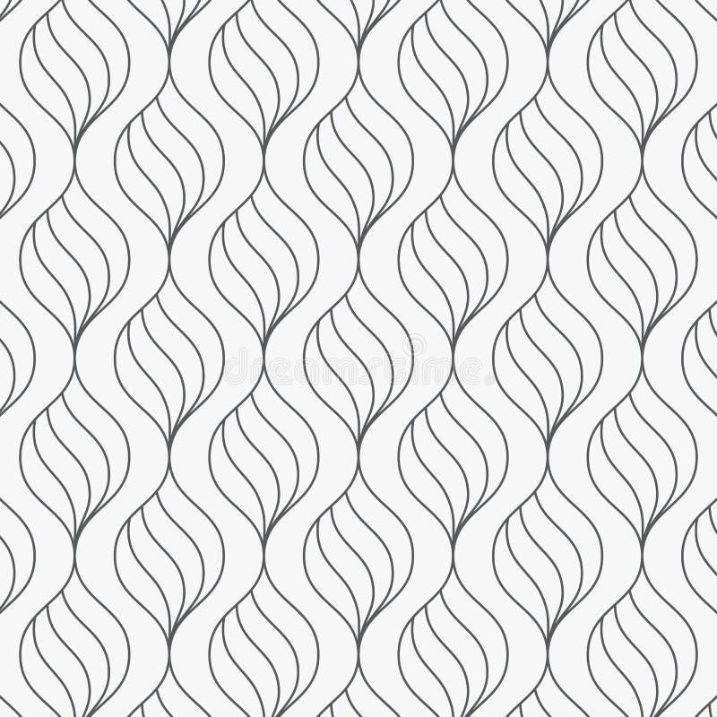 color vektorn f?r m?jliga variants f?r modellen den olika Abstrakt stilfull bakgrund med stiliserade linj?ra vridningkurvkronblad stock illustrationer