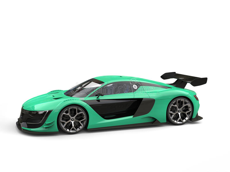 Color verde automotriz del UFO de los deportes estupendos modernos libre illustration