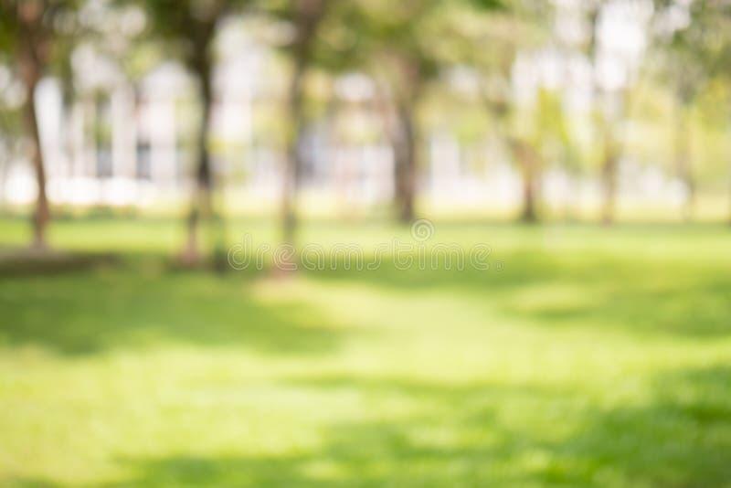 Color verde de la falta de definición abstracta en del jardín para el concepto del fondo, borroso y defocused del efecto de la pr imagenes de archivo