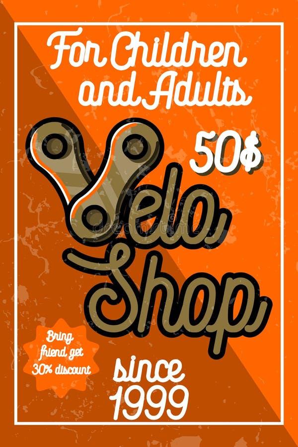 Color Vintage Bike Shop Banner Stock Vector - Illustration ...