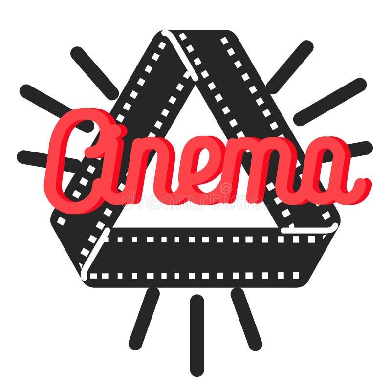 Color vintage cinema emblem stock illustration