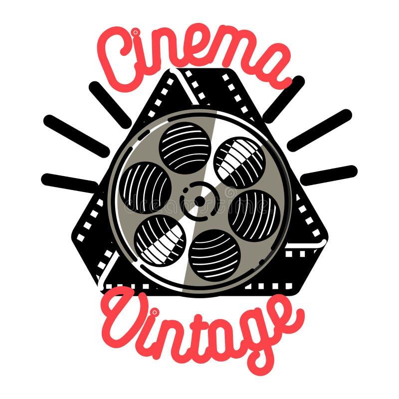Color vintage cinema emblem vector illustration