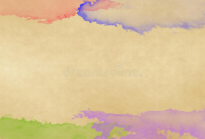 Color water on old paper. Background vector illustration