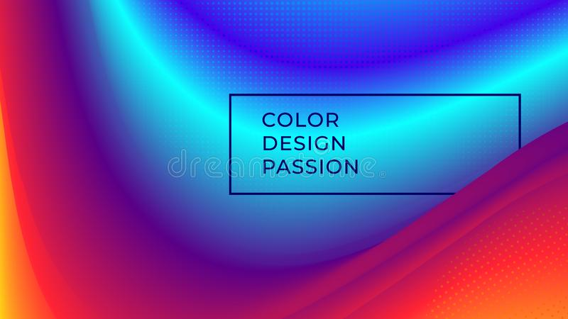 Color wave flow background. Abstract liquid colour motion with a fluid lines and a smooth gradient. Eps10 vector illustration