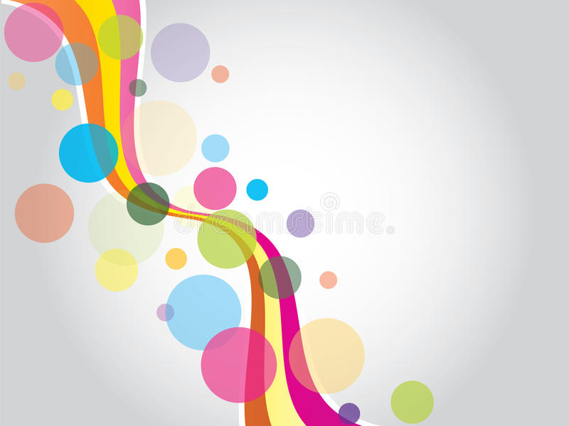Color waves and dots royalty free illustration