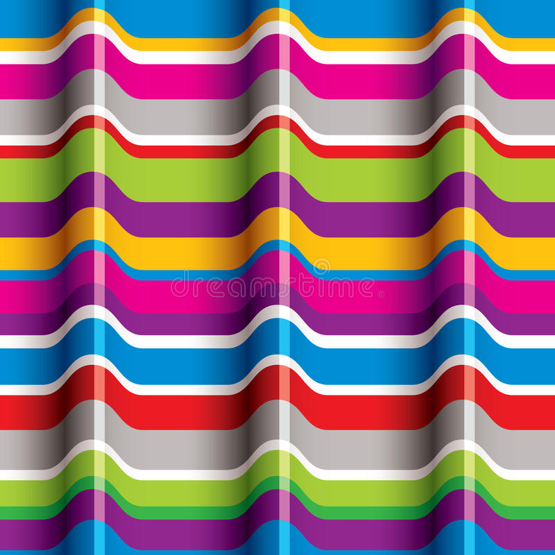 Color waves seamless pattern. stock illustration