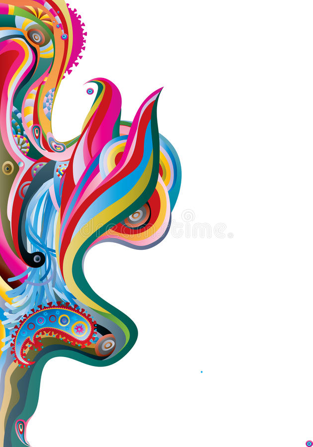 Download Color waves vector image stock illustration. Illustration of abstract - 13176297