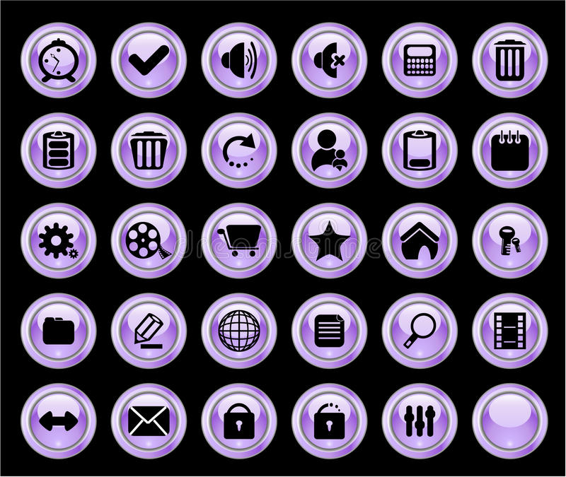 Download Color web buttons stock illustration. Image of glowing - 10260252