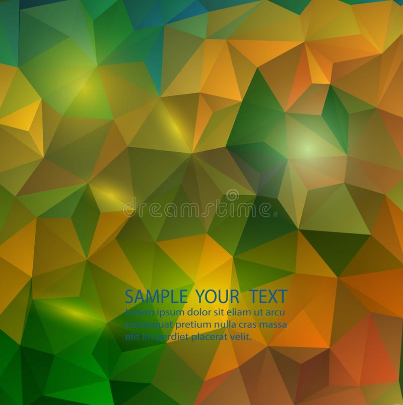 Color wheel abstract geometric rumpled triangular background low poly style. stock illustration