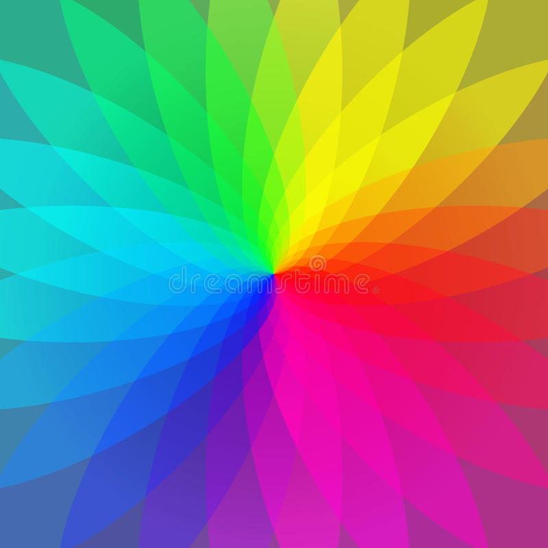 Color wheel abstract geometric stripes background vector illustration