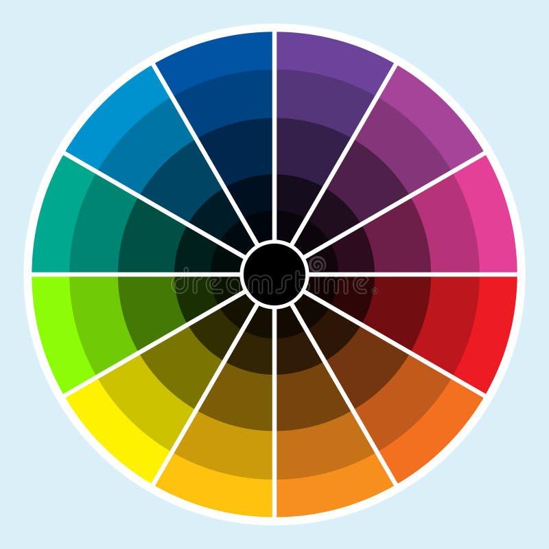 Color Wheel - Dark Stock Photo