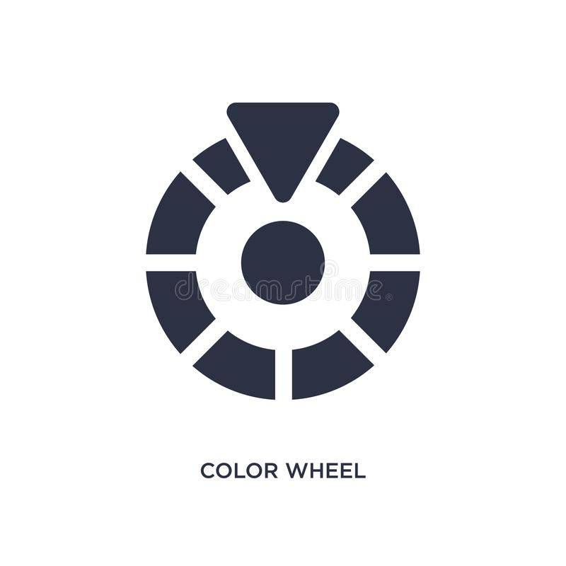 color wheel icon on white background. Simple element illustration from geometry concept royalty free illustration