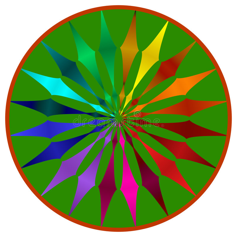 Color Wheel Mandala stock illustration