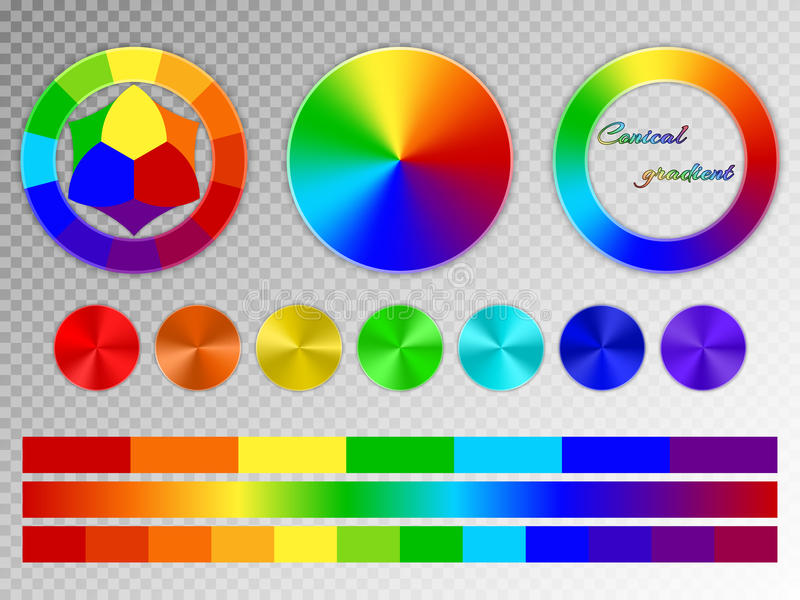Color wheel on a transparent background stock illustration