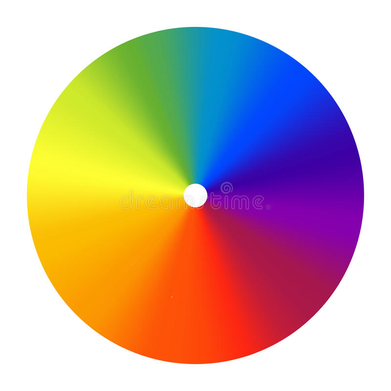 Color wheel vector spectrum. Colorful circle rainbow design. Creative saturation palette. Graphic illustration royalty free illustration
