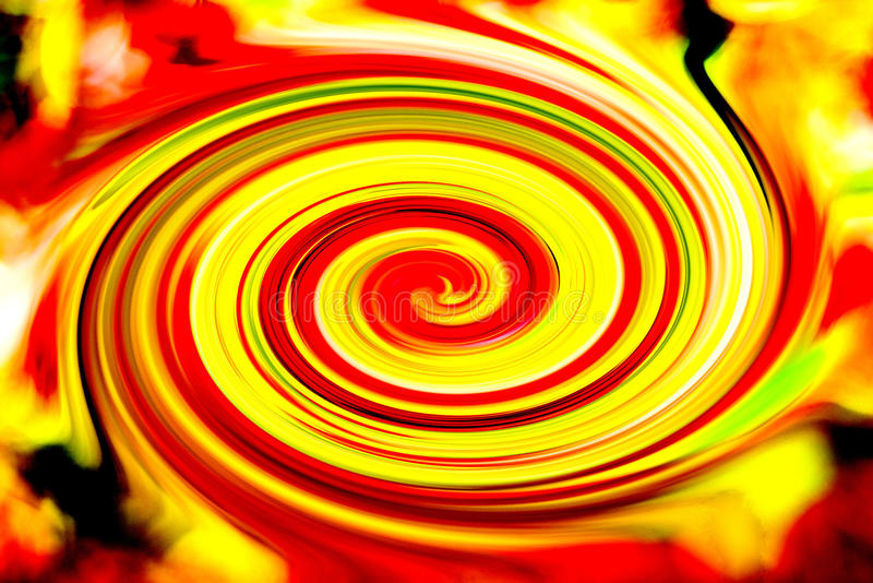 Color Whirl. With yellow,red,green amd black royalty free stock photos
