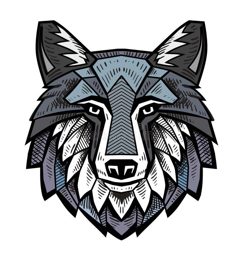 Free Color Wolf Head Royalty Free Stock Image - 69989056