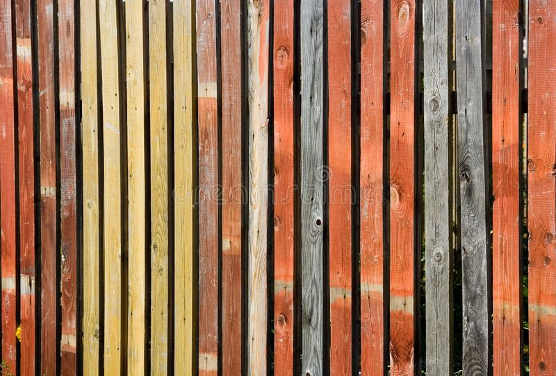 Color wooden fence stock photography