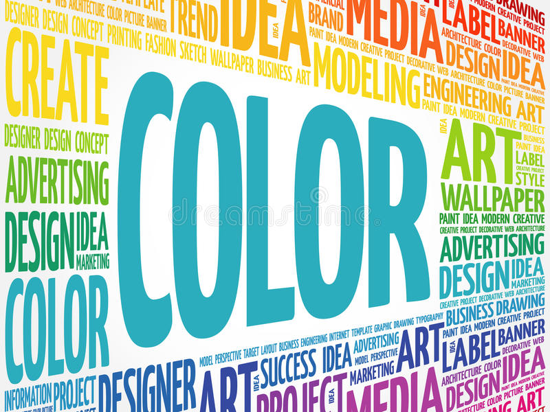 COLOR word cloud stock illustration