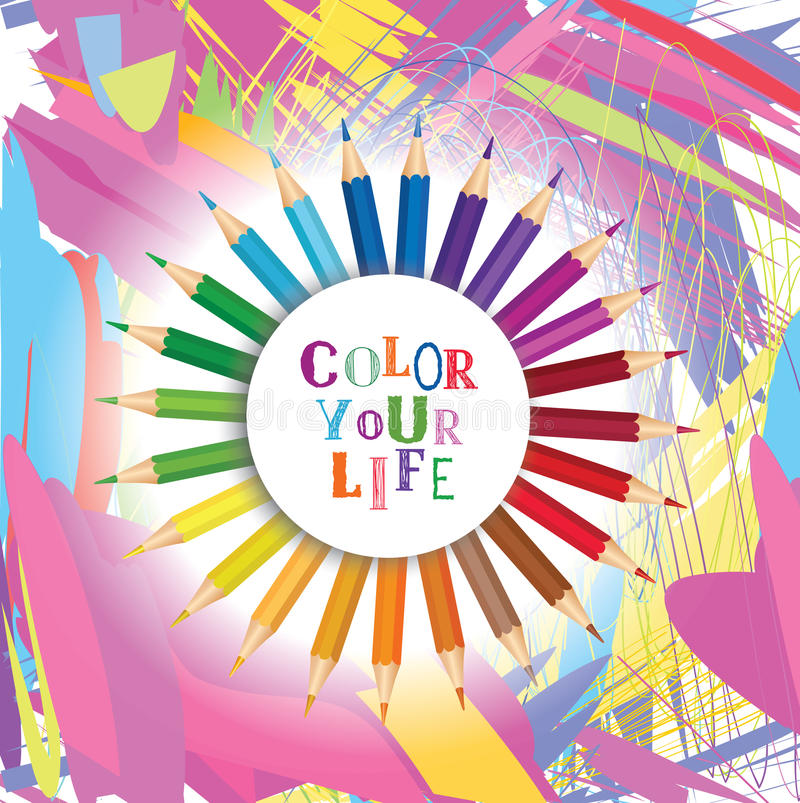 Color Your Life Quotes Prepossessing Color Your Life Design Concept  Backgroundinspirational