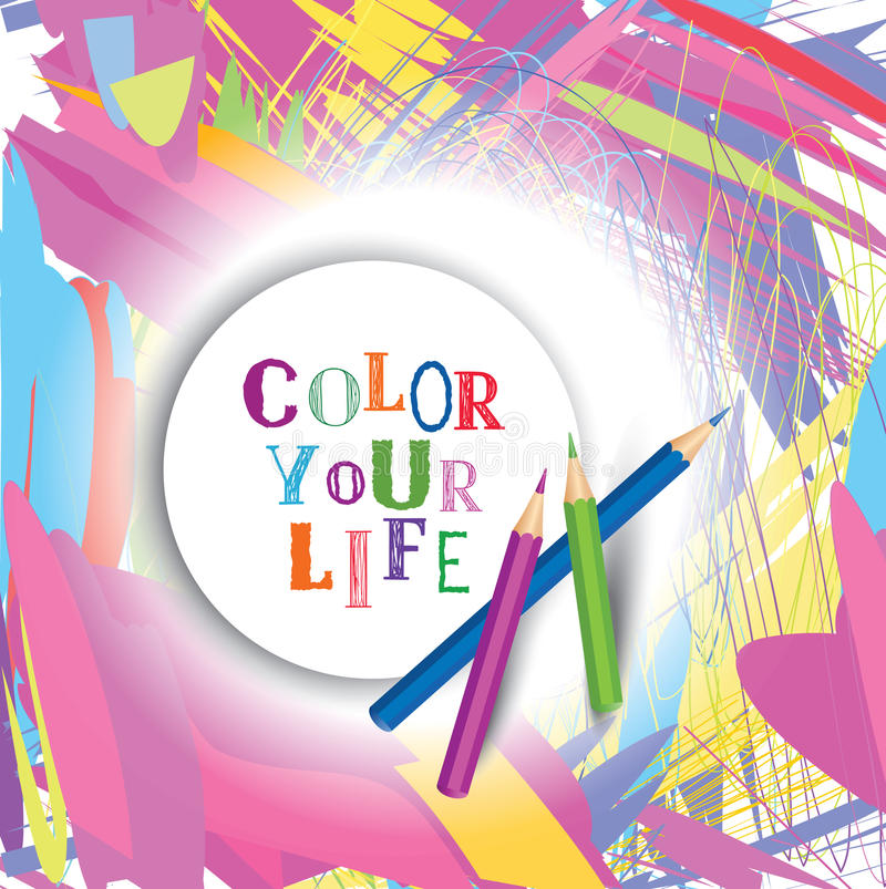 Color Your Life Quotes Amazing Color Your Life Design Concept Backgroundinspirational