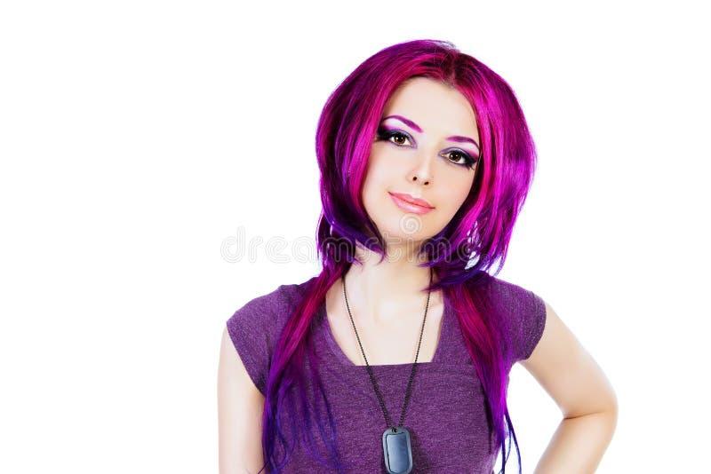 Coloração de cabelo foto de stock royalty free