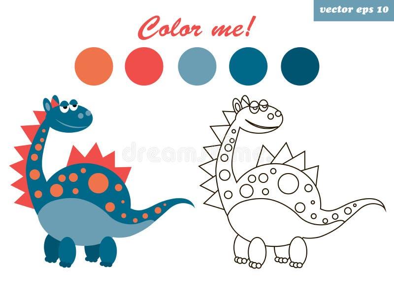 coloração do dinossauro ilustração royalty free