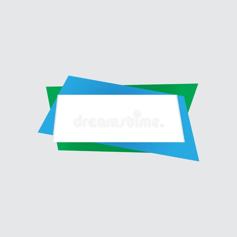 Colora as etiquetas de papel para notas, ilustração lisa do vetor ilustração stock