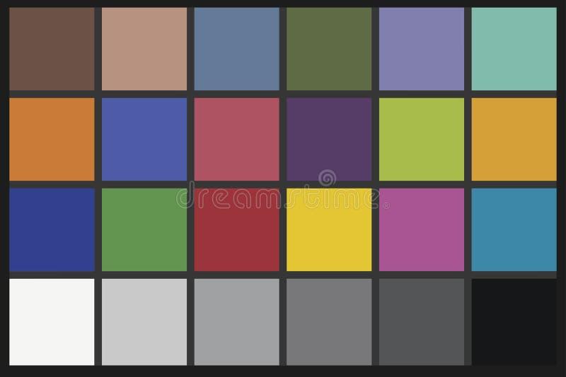 Colora a carta do verificador fotografia de stock royalty free