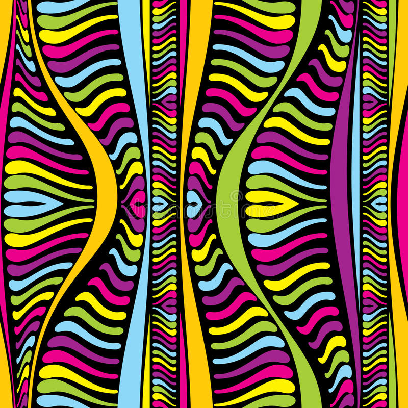 Colora linhas africanas abstratas ilustração royalty free