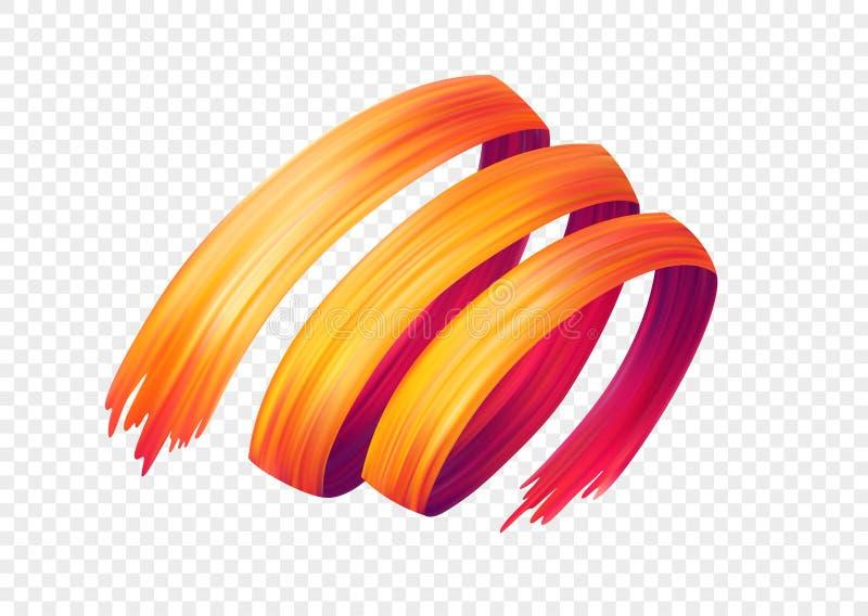 Colora o óleo da pincelada ou o elemento do projeto da pintura acrílica Ilustração do vetor ilustração do vetor